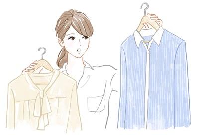 毎日の洋服選びに悩む女性